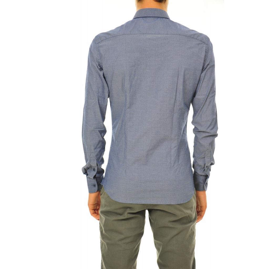 Camicia Etichetta 35 Uomo Fantasia Blu 262 262