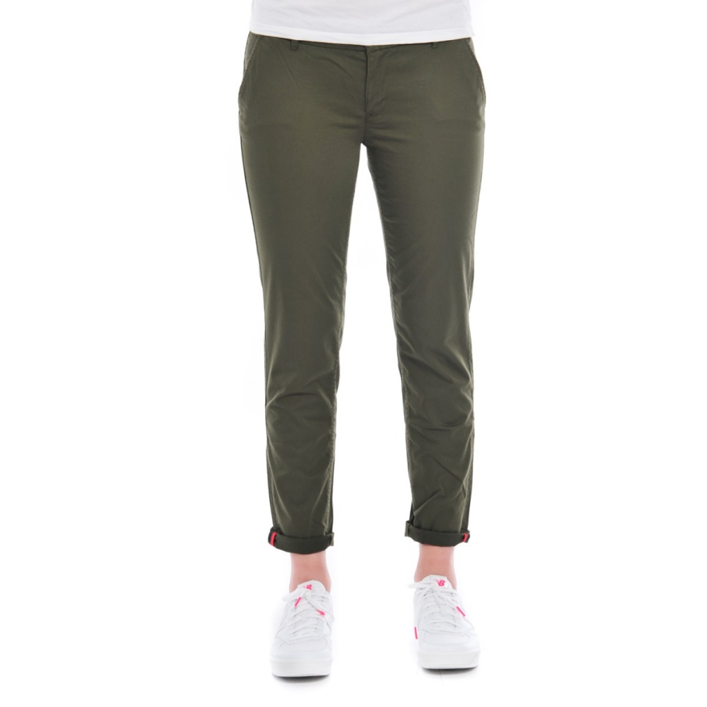 Pantalone Tommy Hilfiger Donna Chino 392 GRAPE LEAF
