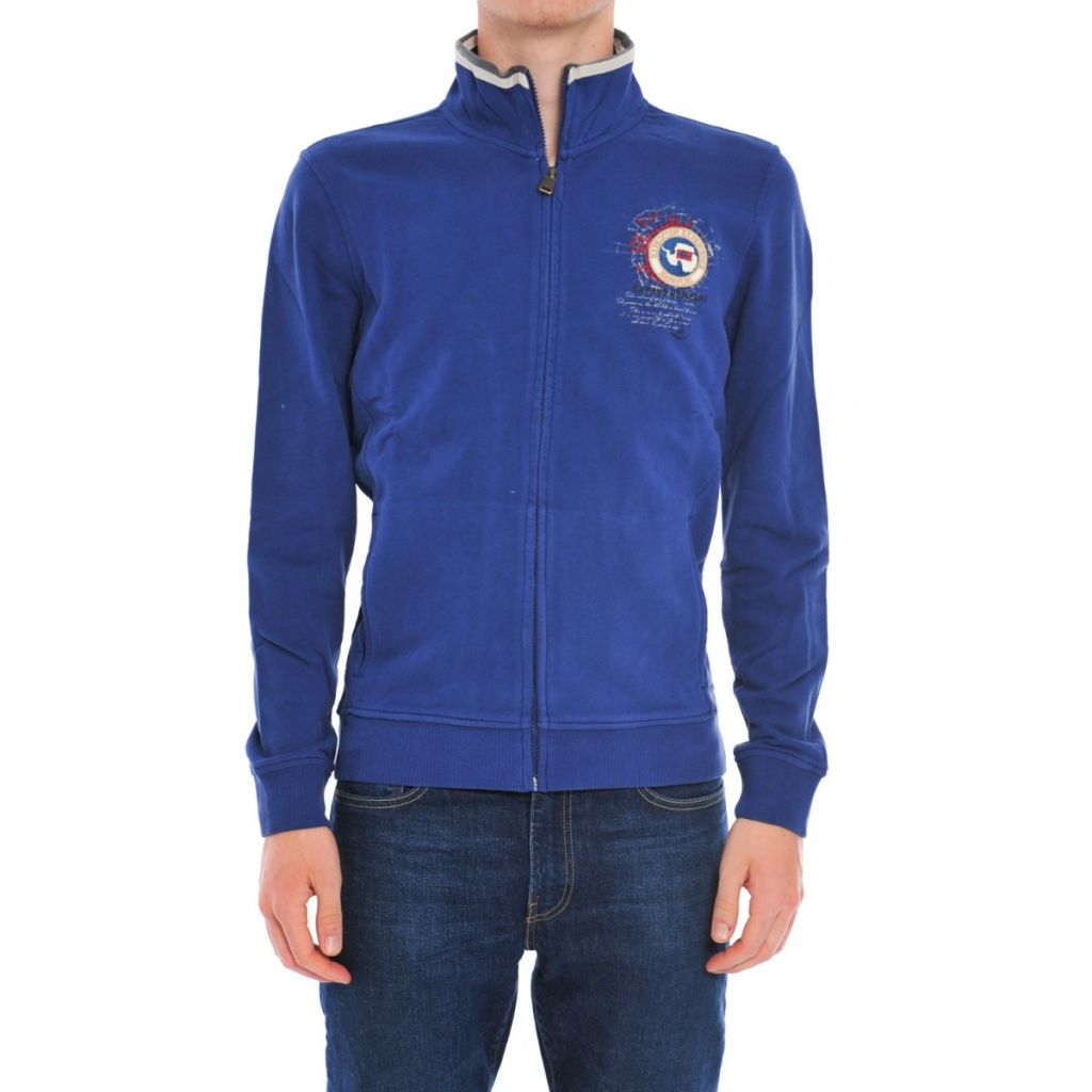 Full Zip Sweatshirt Napapijri Man B06 BLUE PALATINE