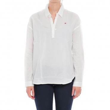 Camicietta Napapijri Donna Cotone 002 BRIGHT WHITE 002 BRIGHT WHITE