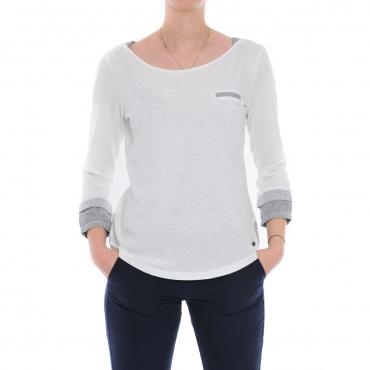 T-shirt Napapijri Donna Jersey 002 BRIGHT WHITE 002 BRIGHT WHITE