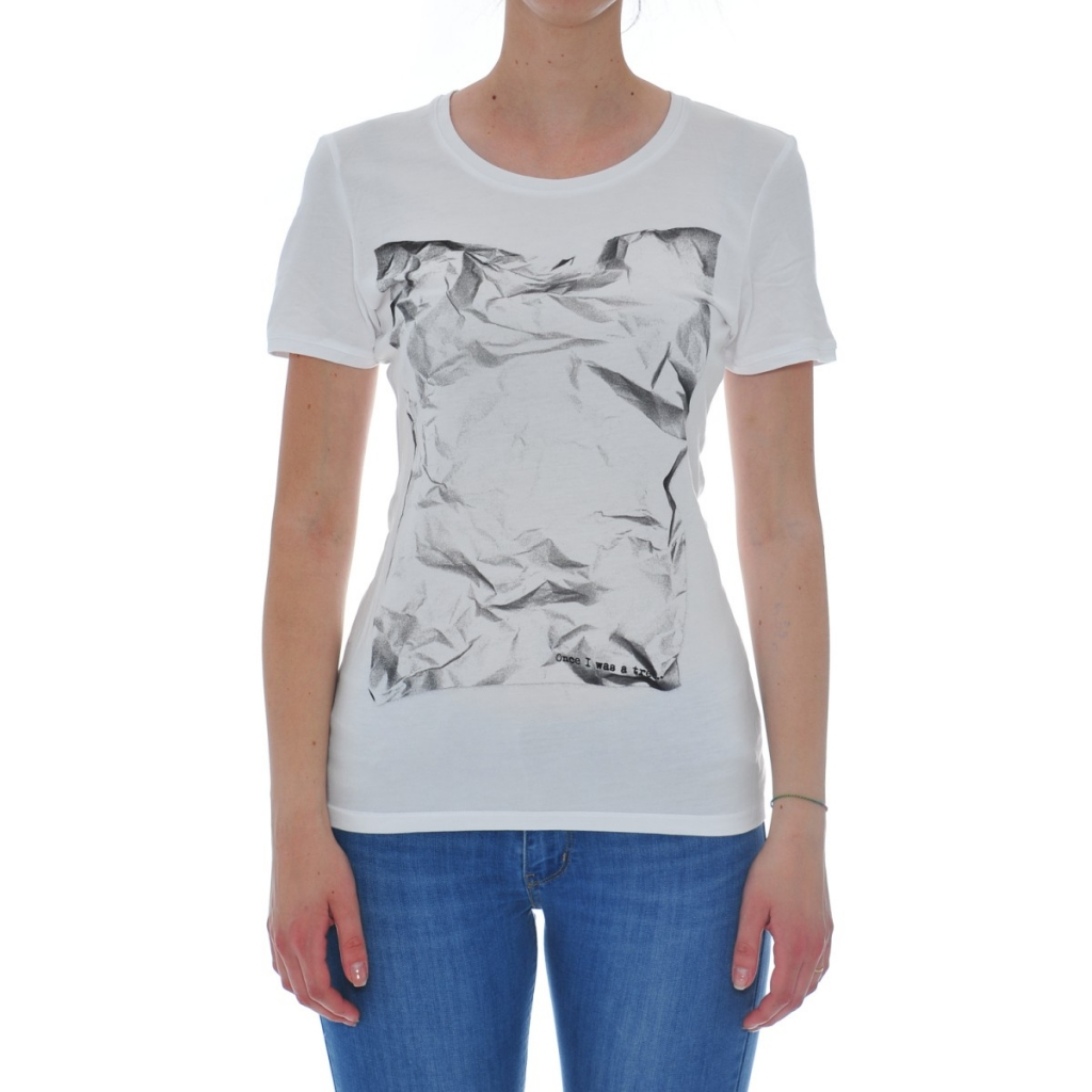 T-Shirt Frau Rebello Bambus Bio-Baumwolle TW01 WHITE CAR 0001