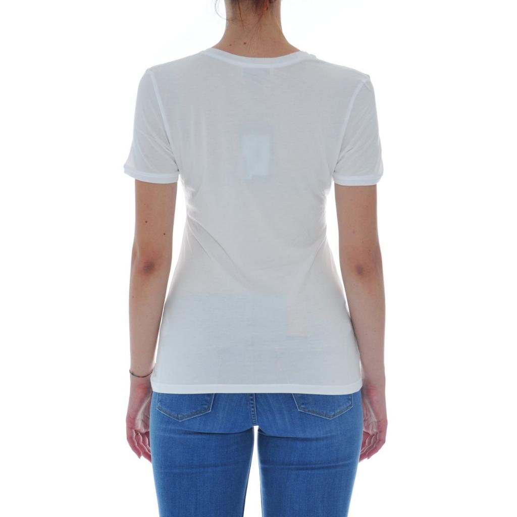 Tshirt Donna Rebello Bamboo Cotone Organico Tw01 CAR 0001 BIANCO CAR 0001 BIANCO