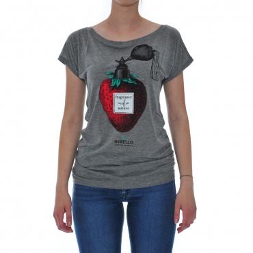 Tshirt Donna Rebello Eucalipto T01w FRA 0015 GRIGIO FRA 0015 GRIGIO