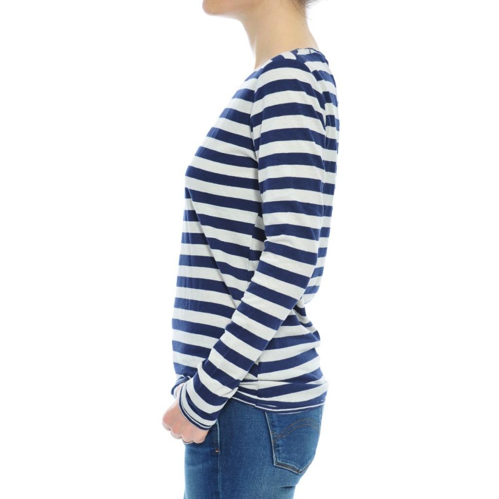 T-shirt Tommy Hilfiger Donna Righe 901 BLU WHITE 901 BLU WHITE