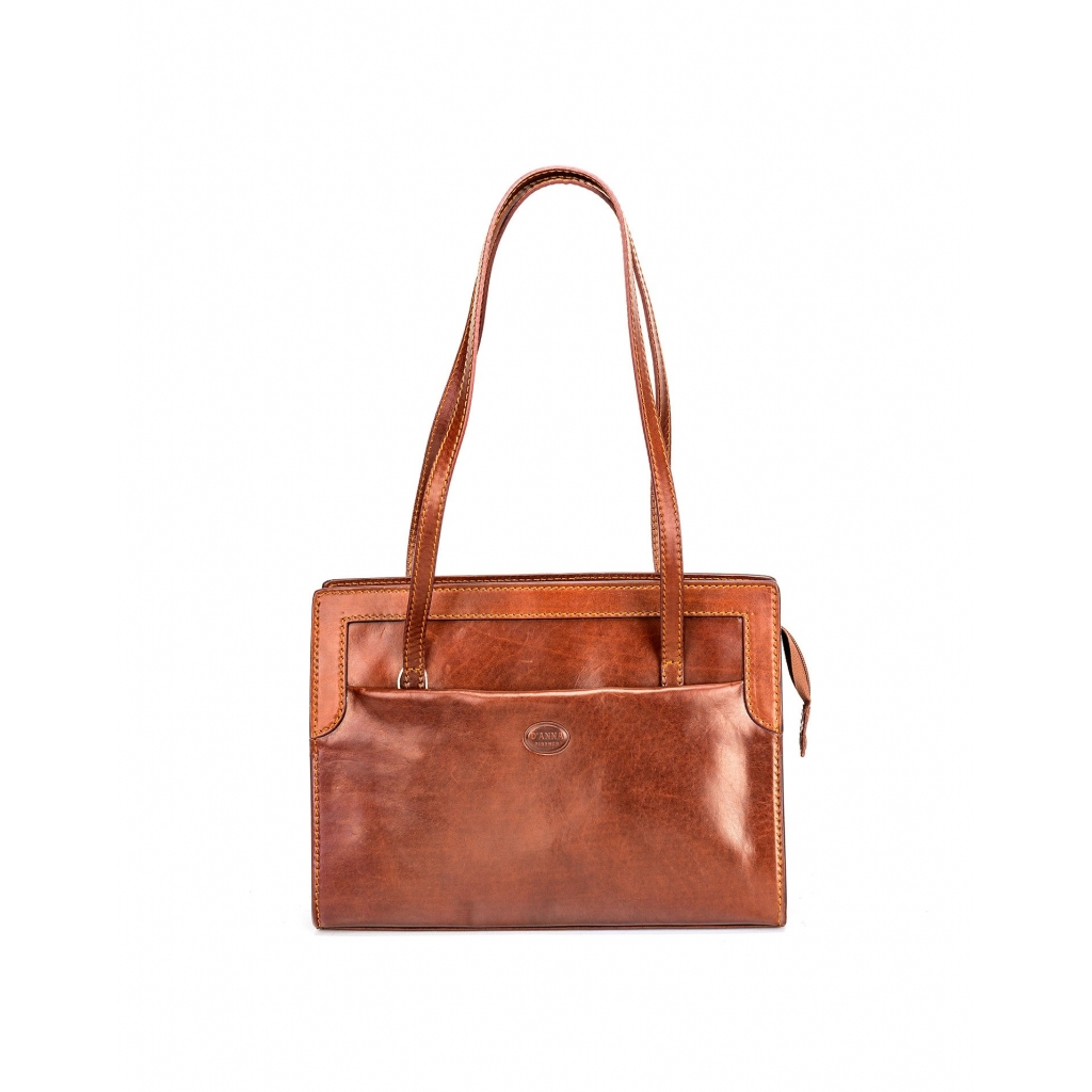 BROWN LEATHER BAG SCHULTER