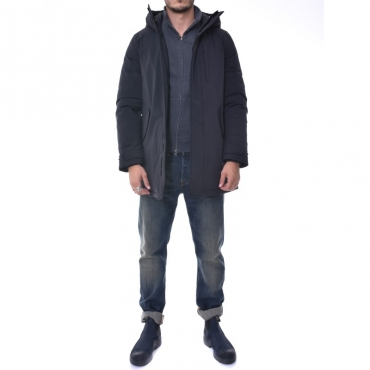 Stretch military parka NERO NERO