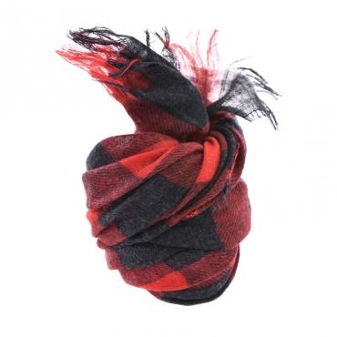 Ws check scarf NERO NERO
