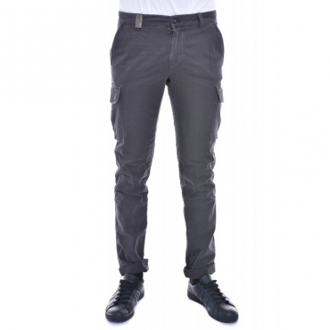 Pantalone slim con tasconi ANTRACITE ANTRACITE