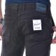 Pantalone slim microfantasia NERO NERO