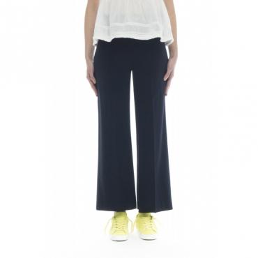 Pantalone donna - J4104 pantalone con elastico 885 - blu 885 - blu