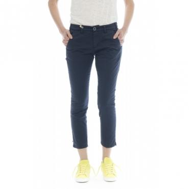 Pantalone donna - Melitas 1165 super slim strech caviglia W306 - Blu W306 - Blu