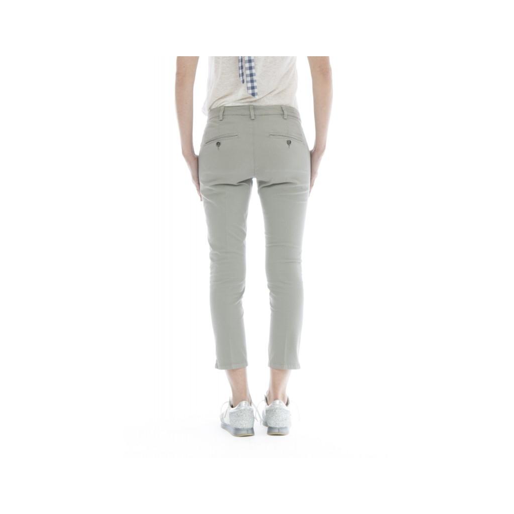 Pantalone donna - Melitas 1165 super slim strech caviglia W075 - Grigio W075 - Grigio