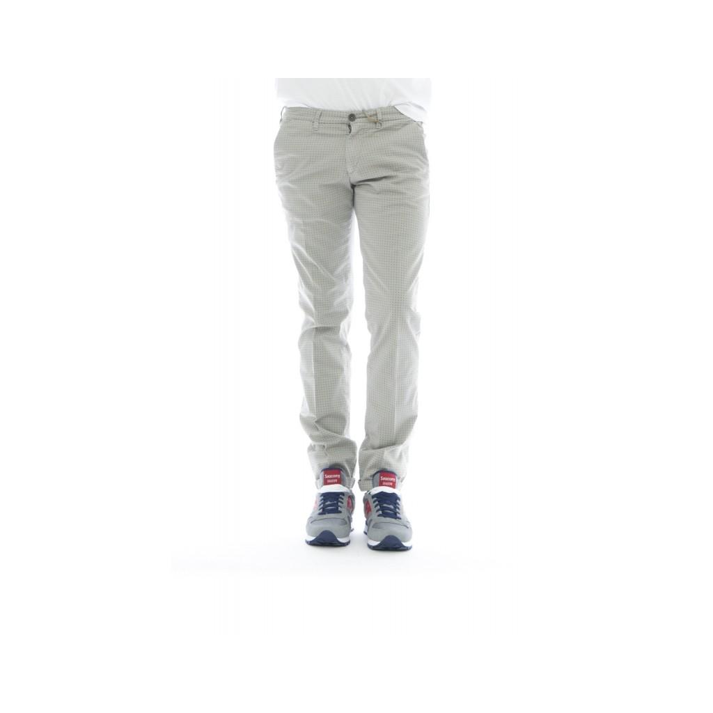 Pantalone uomo - Lenny 1117 stampa W075 - Grigio W075 - Grigio
