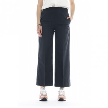 Pantalone donna - J4033 pantalone cotone 003 - nero 003 - nero