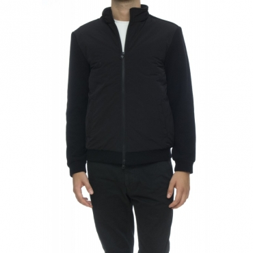 Piumino - WO TSC0027 WC40 wool cotton track jkt 100 - Nero 100 - Nero