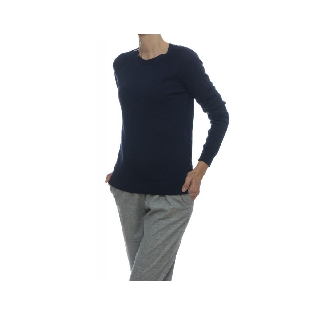 Maglia donna - 27239 maglia lana merinos extra fine 07 - Navy 07 - Navy