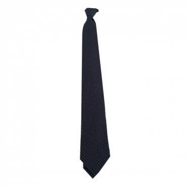 DRAKES LONDON cravatta uomo blu/perla cm 7 100 lana MADE IN ENGLAND UNICO