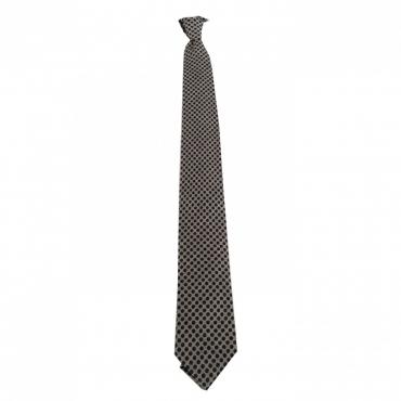 DRAKES LONDON cravatta uomo fantasia grigio cm 7 100 lana MADE IN ENGLAND UNICO