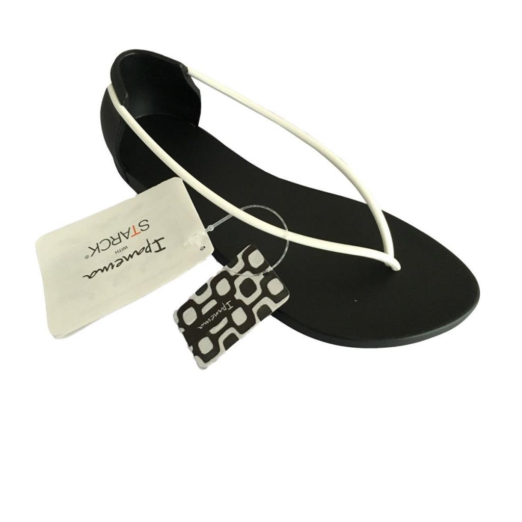 2dd8c714017e IPANEMA women s flip flops Philippe Starck N Black   White MADE IN BRAZIL  UNICO