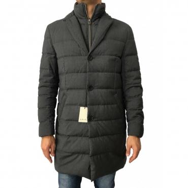 LUIGI BIANCHI MANTOVA cappotto grigio con pettorina 100 lana  UNICO