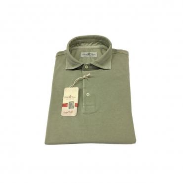 DELLA CIANA polo uomo mezza manica colore verde chiaro modello 71/43201 100 cotone UNICO
