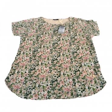 ELENA MIRO t-shirt tessuto fiorato 100 viscosa tessuto jersey UNICO