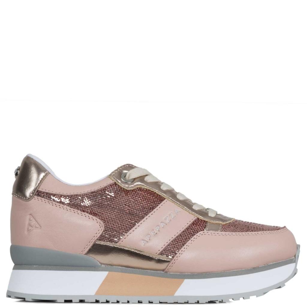 APEPAZZA - Sneakers con paillettes e plateau CIPRIA - Scarpe  d715f0334b0