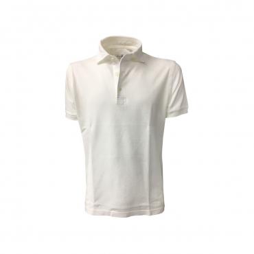 DELLA CIANA polo uomo mezza manica bianca mod 43201 100 cotone MADE IN ITALY UNICO
