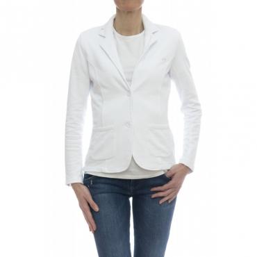 Giubbini - F18203 giacchina felpa 01 - Bianco