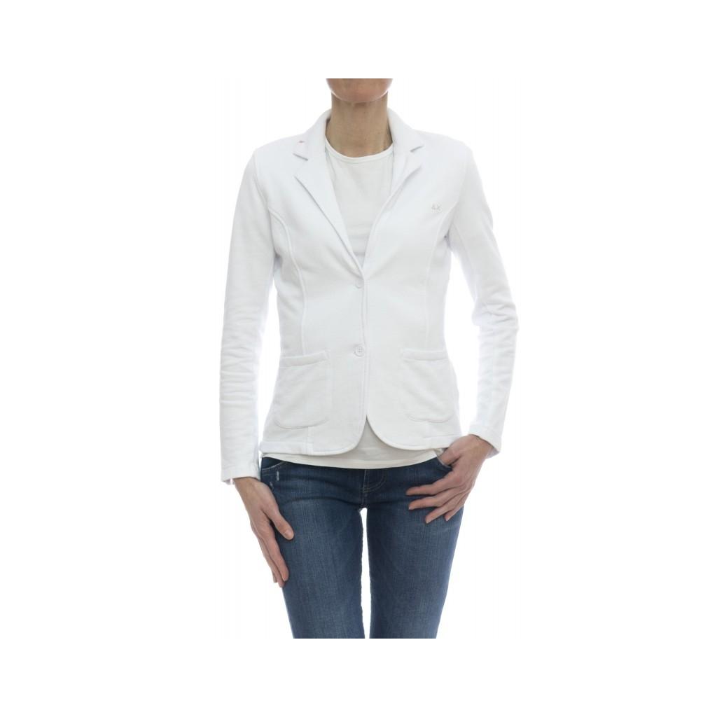 360f6a037c Jackets - F18203 sweat jacket 01 - White | Bowdoo.com