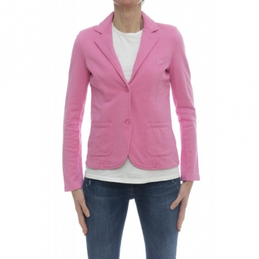 Giubbini - F18203 giacchina felpa Pink - Rosa
