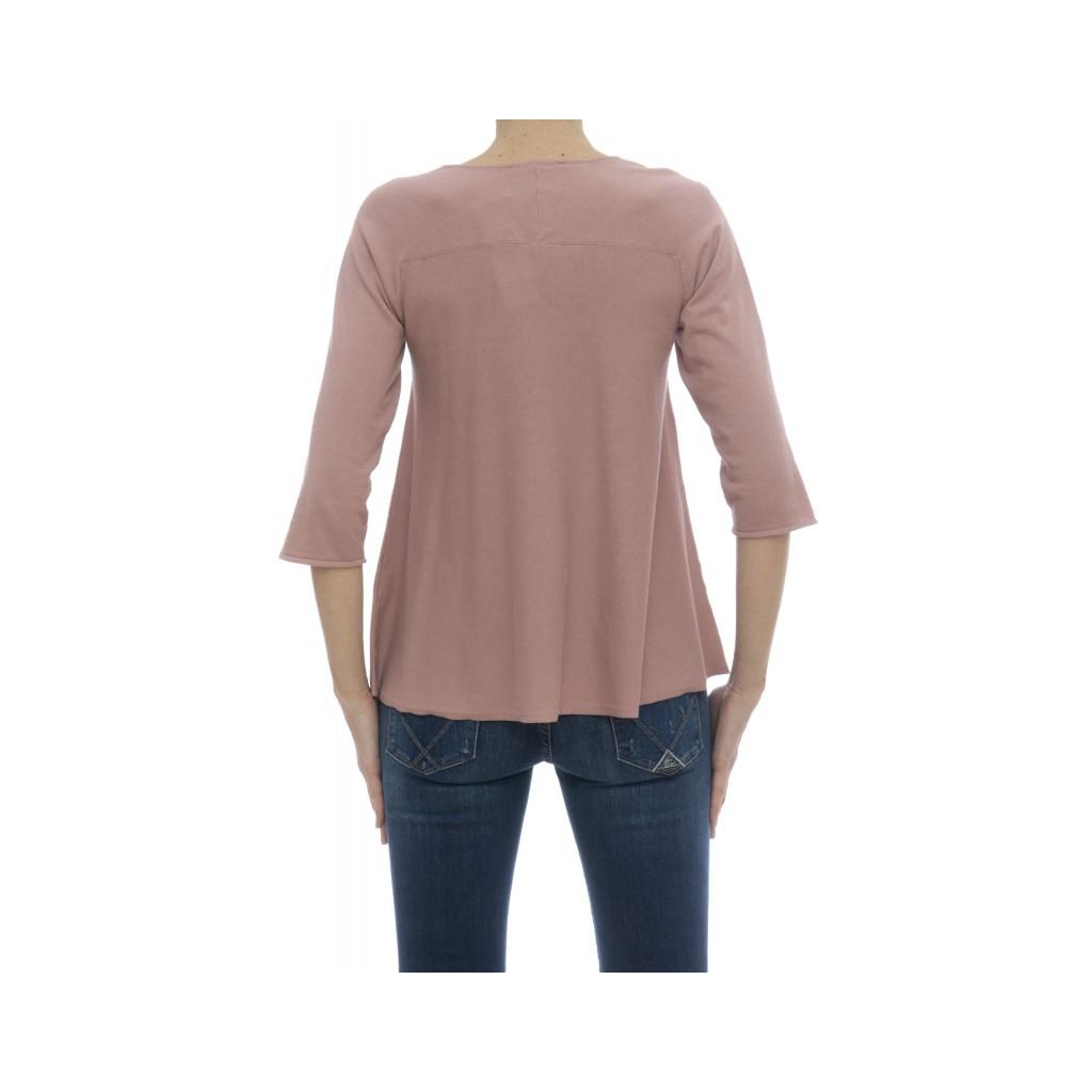Maglieria - 5910/01 maglia manica 3/4 130 - Rosa