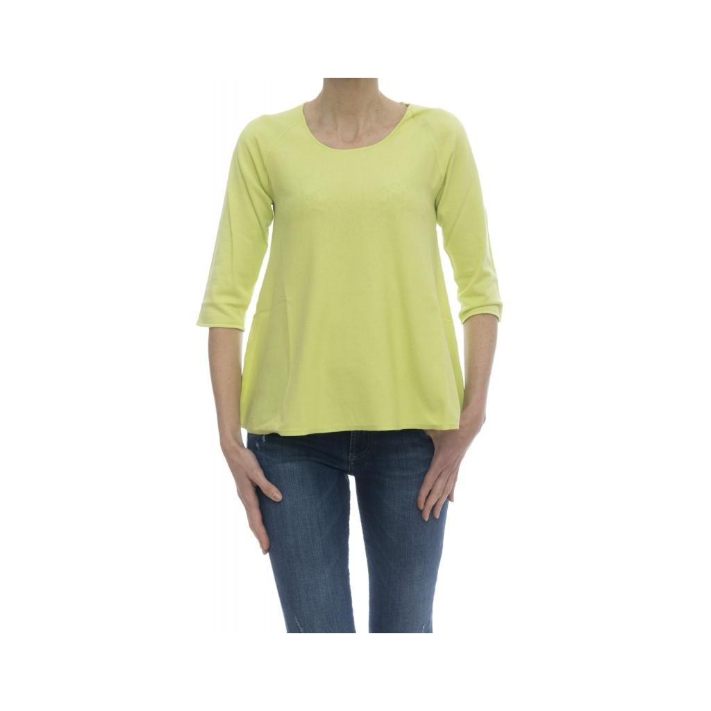 Maglieria - 5910/01 maglia manica 3/4 105 - Lime