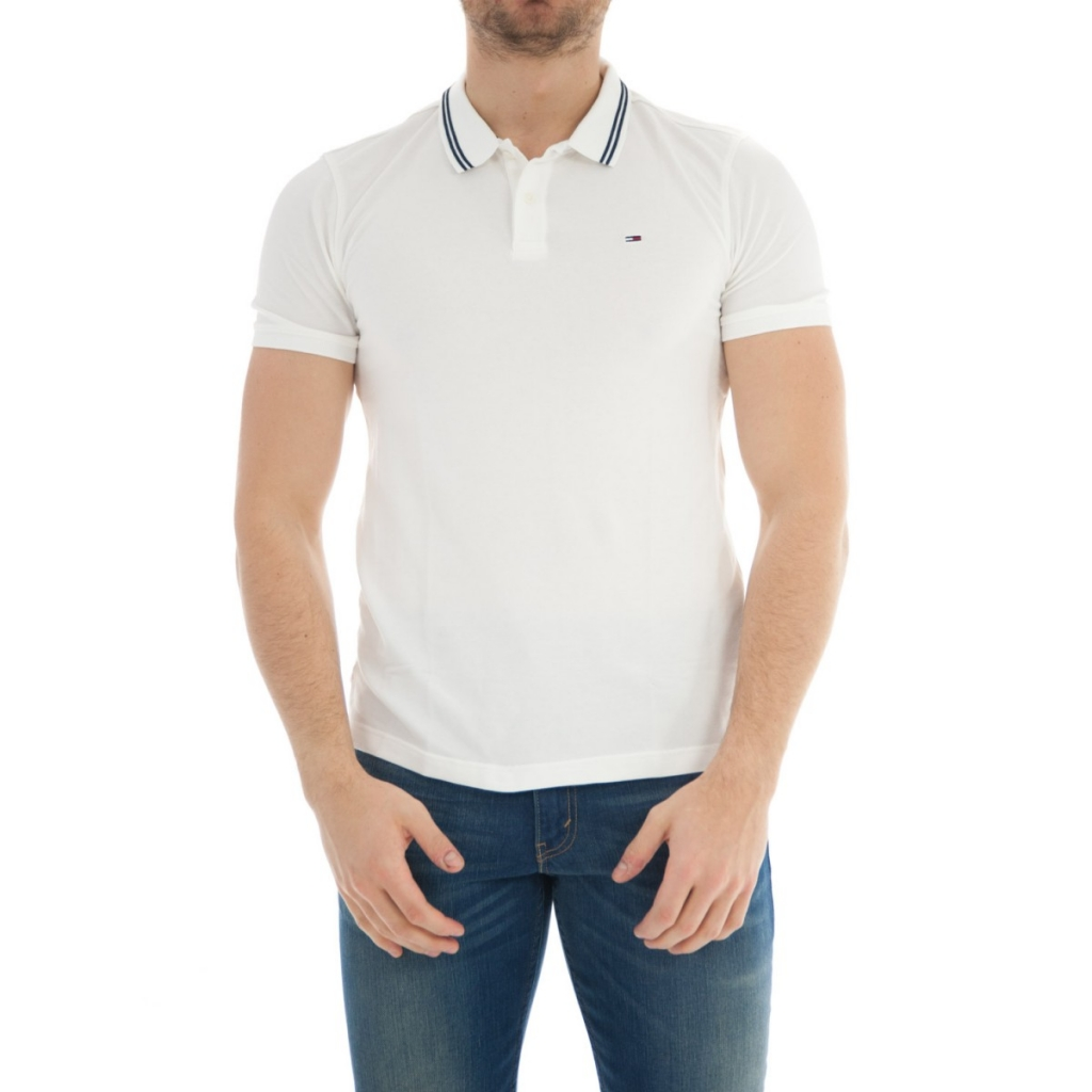 Image of Polo Tommy Hilfiger Uomo Essential Detail 100CLASSICWHITE