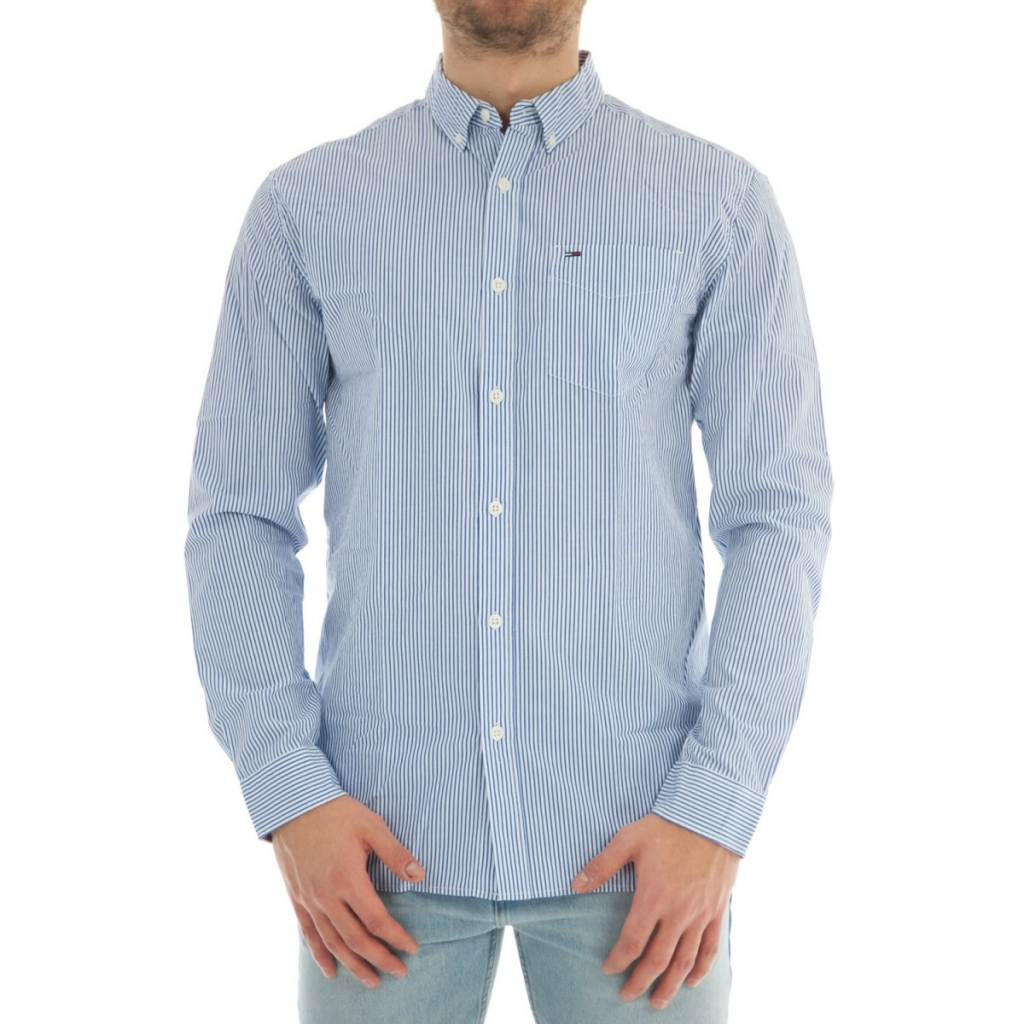3b8710bf226e8 Shirt Tommy Hilfiger Man Classic Stripe 902 WHITE BLUE