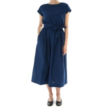 Ws popeline belted dress BLU