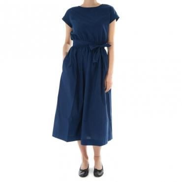 Ws popeline belted dress BLU