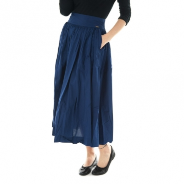 Ws popeline long skirt BLU