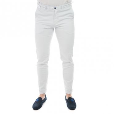 Pantalone slim fit elast BIANCO