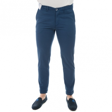 Pantalone slim fit elast BLU