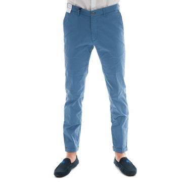 Pantalone slim fit elast AZZURRO