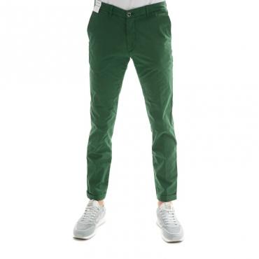 Pantalone slim fit elast VERDE
