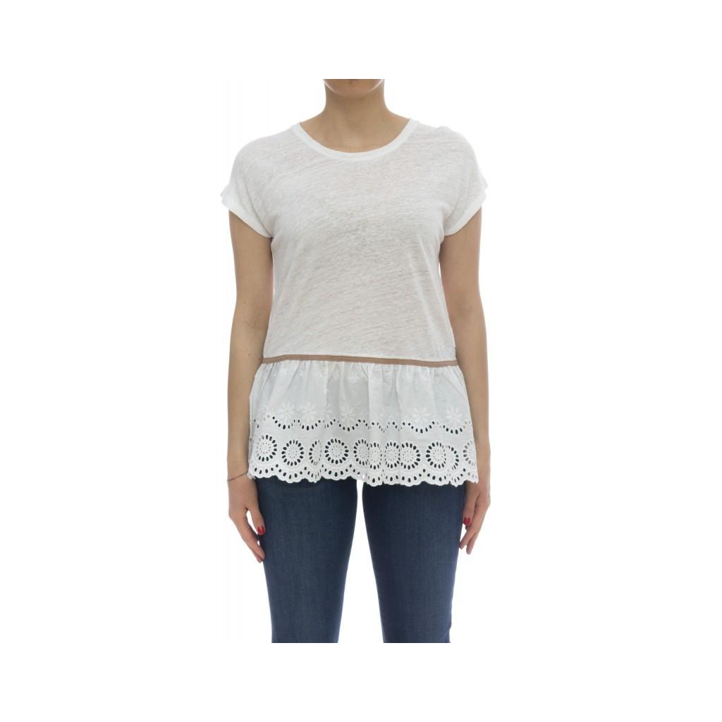 T-shirt - L18206 t-shirt lino 01 - Bianco
