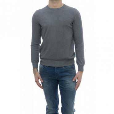 Maglia uomo - 5010/01 giro lavata a freddo 32 - grigio medio