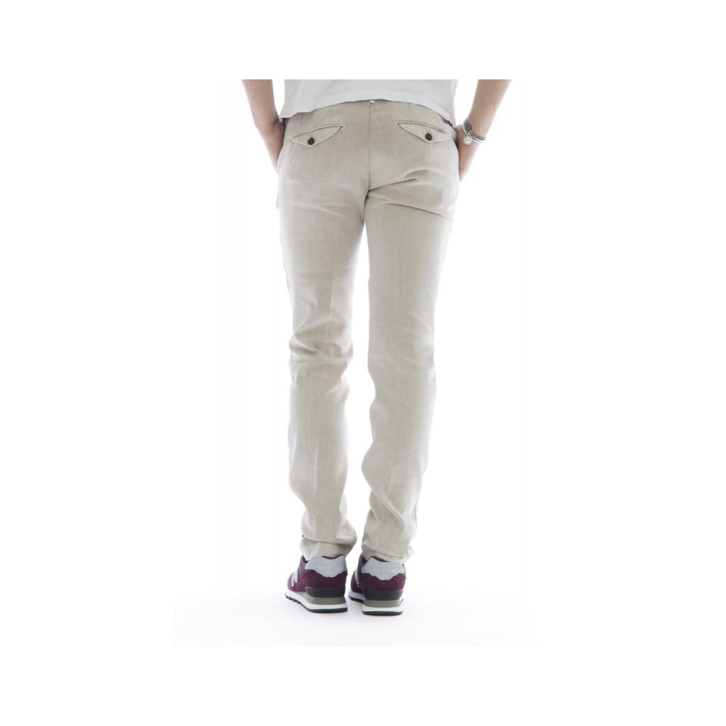 Pantaloni - 08l 79 cotone lino lavato 20 - sabbia