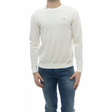Maglia - K18101 maglia girocollo 31 - Bianco panna