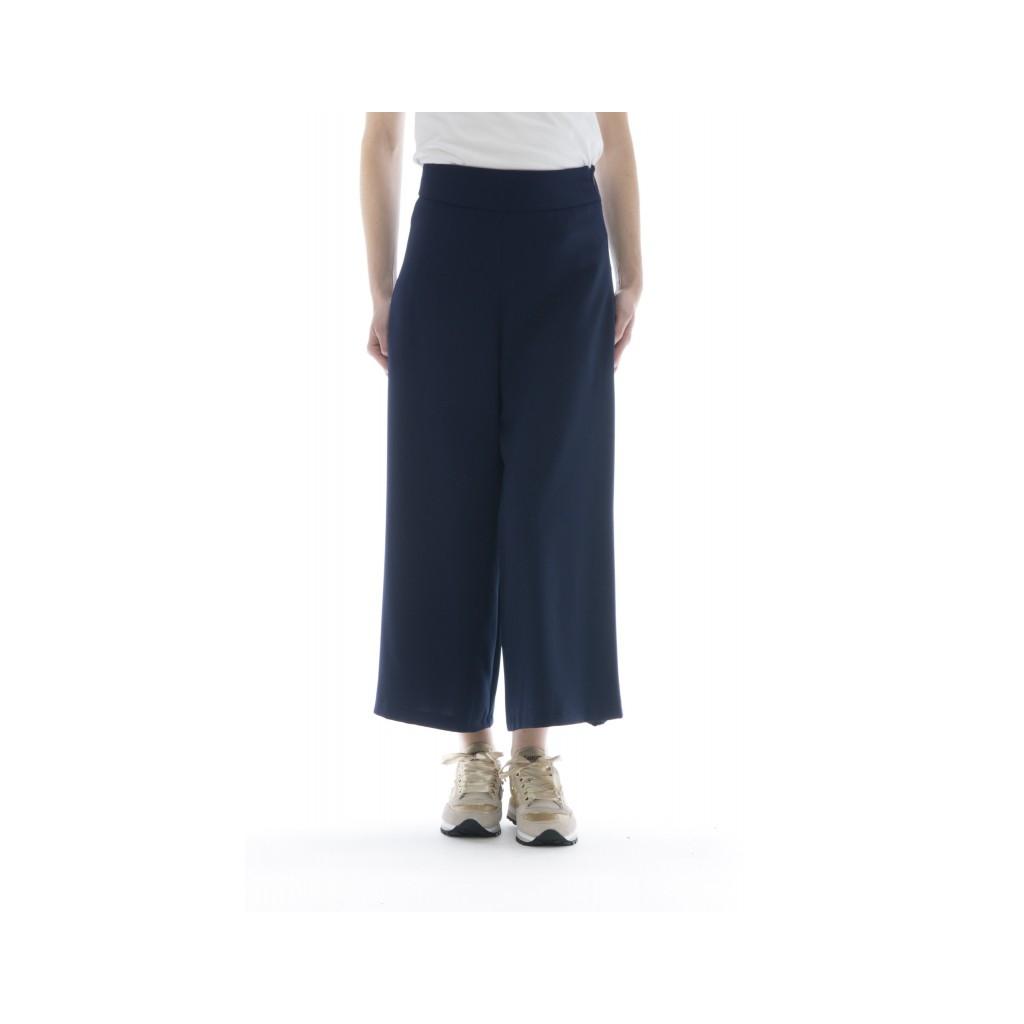 Pantalone donna - 145516 pantalone largo 145 - Blu