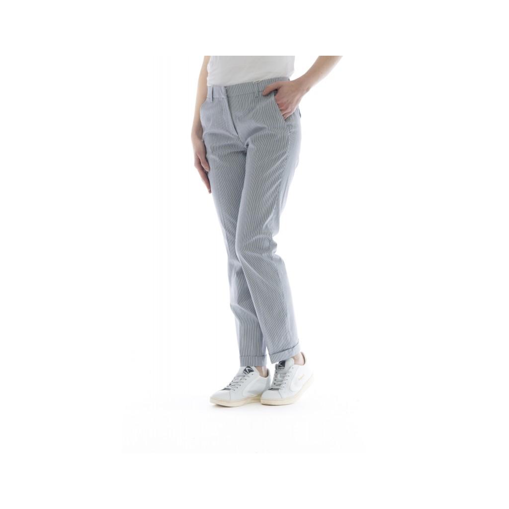 Pantalone donna - Leyre 172568 d6242 righina strech 820 - Blu