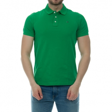 Polo Uomo Tommy Hilfiger Jeans Piquet Classic 391 JELLY BEAN